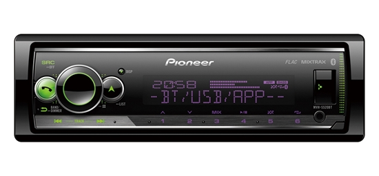 Picture of PIONEER MVH-S520BT Mechless Player With Bluetooth, Multi Colour Illumination, USB And Spotify